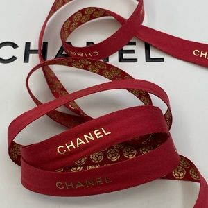 AUTHENTIC CHANEL RED LIMITED EDITION ribbons
